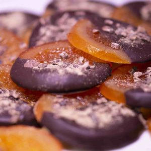 Melt's orange slices dipped in dark chocolate.